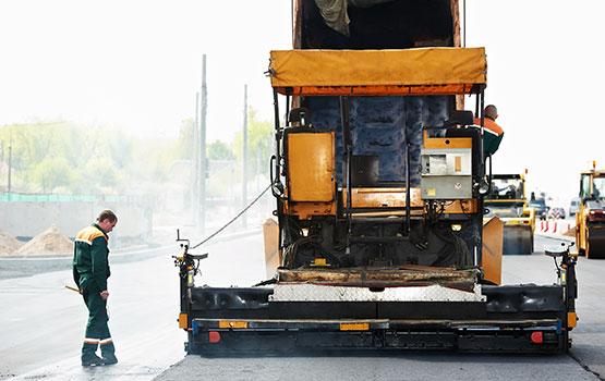 Driveway and Parking lot paving machines